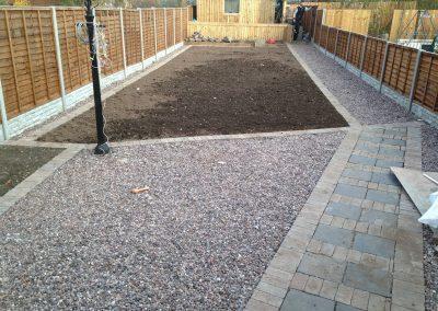 Landscaping garden turf prep