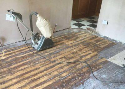 Floor refurb before