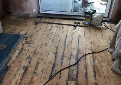 Floor refurb during
