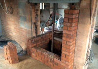 Fireplace installation start