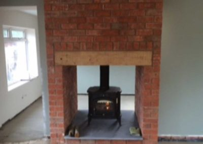 Fireplace installation after
