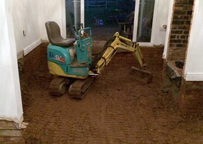 Mini digger internal