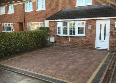 Blcok paving after