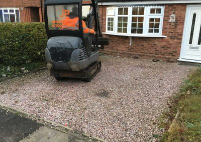 Block paving during