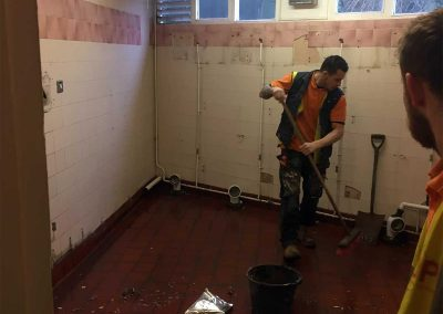 Refurb commercial toilet during