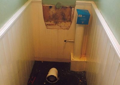 Toilet replacement before